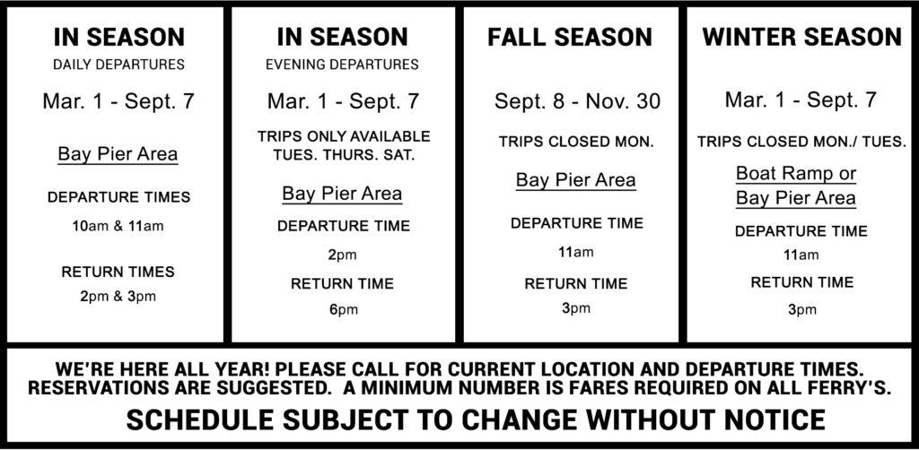 egmont schedule