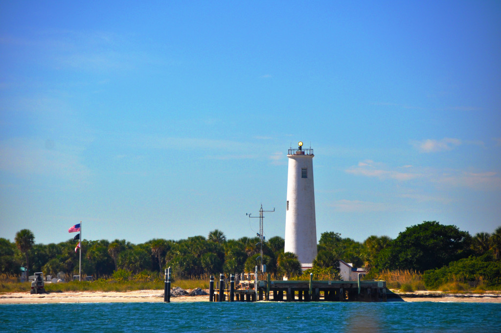light house at egmont key hubbards marina