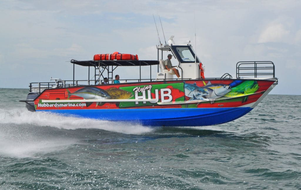 12 hour extreme fishing trip for Hubbards marina fishing