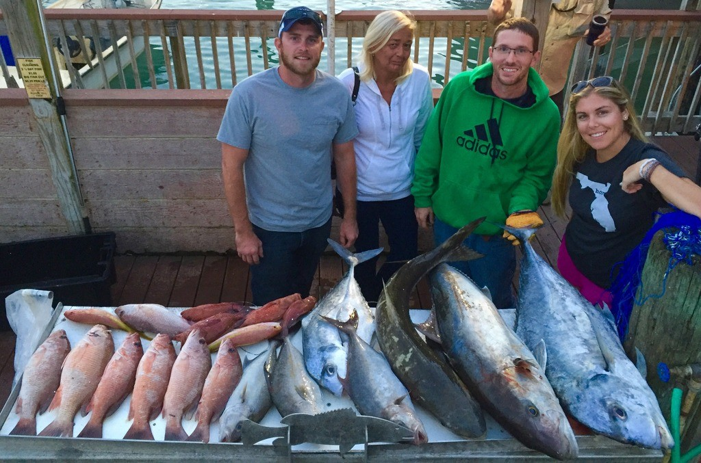 Some of nice fish from the most recent Flying HUB private charter trip at Hubbard's Marina